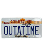 Back To The Future Number Plate Signed By Mj Fox And C Lloyd 100 Authentic + Coa