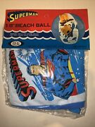 Dc Comics Superman 18 Inch Inflatable Toy Beach Ball Ideal Vintage 1979