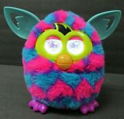 Vintage Furby Boom Blue With Pink Hearts Green Ears - Works