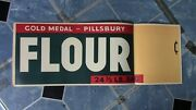 Antique 1940's Advertising Grocery Store Gold Medal Pillsbury Flour Paper Sign