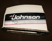 Johnson 70 Hp 2 Stroke Motor Cover Cowl Pn 0397733 Fits 1980and039s/90and039s Cracked