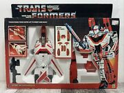 Hasbro Transformers 1984 Autobot Air Guardian Jetfire And Battle Armor Complete