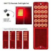 Pair Sequential Led Brake Tail Lights W/ Flasher For 1967-72 Chevy Pickup Truck