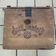 Vintage Collectible Jack Daniels No 7 Whiskey Wooden Crate Box