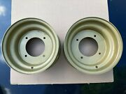 Nos Steel 10x5 Atv Front Wheels 4x144 Mm 2+3 Offset 4/144 Large Bell Pair