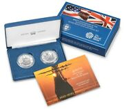 400th Anniversary Of The Mayflower Voyage Silver Coin And Medal Set Fast Ship