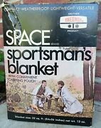 Vtg Space Brand Thermos Sportsmanand039s Blanket Nos Hunting Fishing Camping