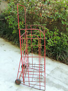Vintage Rolling Metal Wire For Store Display Soft Drink