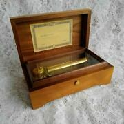 Reuge Wooden Music Box Antique Night And Day Swiss Musical Movement Vintage