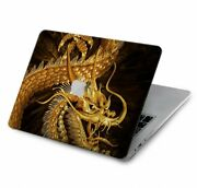 S2804 Chinese Gold Dragon Printed Case For Macbook Air Pro 12 13 15 16