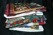 Lot Of Craft Fabric Panels Cut 'n Sew Applique More Christmas Holidays 30 Pieces