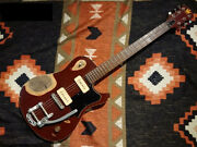 Used 2010s King Guitars Marquette Relic Ox Blood Electric Guitar P-90 Pu Bigsby