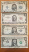 4 Note Lot Star Note Blue Seal Red Seal Silver Certificate - Vintage Cash