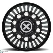 Set Of 2 New Atx Series Ao403 Roulette 22.5x8.3 10x285.75 90 Satin Black Milled