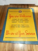 Very Rare Early Oldsmobile Service Olds Metal Advertising Car Dealership Sign