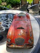 Cool Red 1950s Tin Litho Marx Falcon 5220 Friction Car 20 Repair/restore