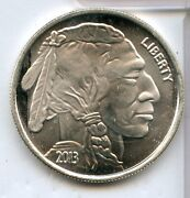 2013 American Indian Buffalo Bison 999 Silver 1 Oz Medal Round Ounce - Rc396