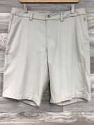 Nwt Lululemon Commission Short Relaxed 11 Wht/tfsd Qwick Oxford Sz 34 - 75044