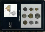 Coin Sets Of All Nations Mexico 1987-1989 Unc 51020501005005000 Peso 1988