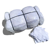 100 Lb White Cotton Nylon Rags - Cleaning Towels Shop Rags Wiping Cloths