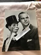 """Rare Original Unpublished Photo Of Edger Bergen And Charlie Mccarthy Bandw 8.5""""x7"""""""