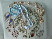 Vintage Costume Jewery Lot Of 9 Necklace And Earring Sets