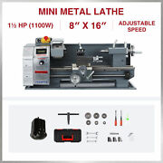 8x16 2250rpm Mini Metal Lathe W 1100w Brushless Motor 5 3-jaw Chuck And More