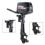 4.8kw 4-stroke 6.5hp Hangkai Outboard Boat Engine Motor 123cc Water-cooled +cdi