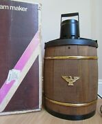 Vintage Large 6 Qt. Electric Ice Cream Maker Freezer 7231 Wood Nice And Works