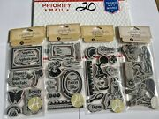 Unmounted Red Rubber Stamps Large Lot Rare Retired Graphic 45 Lot 20