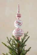 Anthropologie Paper Mache Keats Finial Tree Topper Christmas Vintage Style New