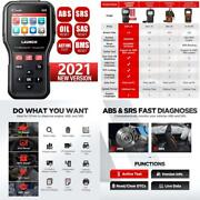 Launch Cr629 Abs Srs Scan Tool Obd2 Scanner With Active Test 3 Reset Functions