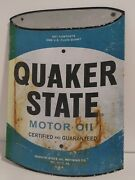 Vintage Quaker State Tin Sign 16×11 Preowned