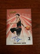 2018 Absolute Memorabilia Trae Young Gold Limitless Auto Level 3 8/10 Rookie Rc