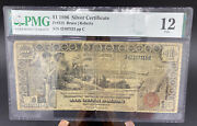 1896 1 One Dollar Educational Silver Certificate Note Pmg Graded Fine 12