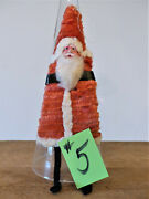Vintage 1940s Occupied Japan Santa Claus Chenille Clay Face 6.5 Ornament 5