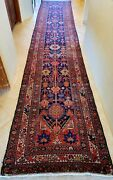 Antique Meshkabad Tribal Rug Runner 17and039 2 By 3and039