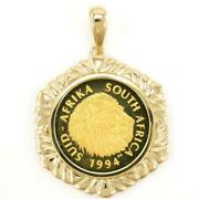 South Africa 1/4oz Coin 24k Yellow Gold 18k Pendant Top Free Shipping Used