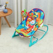Baby Bouncer Rocker Swing Chair Vibration Portable Musical Toy Cradle Seat Green