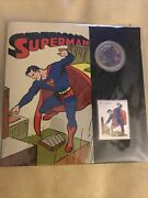 Superman Canada 2013 Then And Now Lenticular Coin And Stamp Set Secret Origins