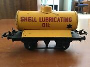 Hornby O Gauge 1955-57 T-4 No.1 Shell Lubricating Oil Tanker.yellow/black
