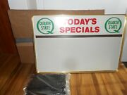 Nos Vintage Quaker State Motor Oil Gas Todays Special Advertising Board Sign