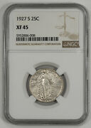 1927 S Standing Liberty Quarter 25c Silver Ngc Xf 45 Extra Fine - Better 008