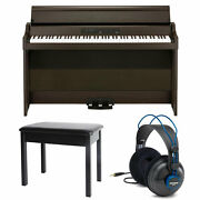 Korg Gb1 Air Digital Piano With Bluetooth Brown + Bench + Headphones