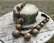 17 Large Brass Sleigh Bells Leather Strap Horse Jingle Rein Christmas Bells I