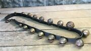 17 Small Brass Sleigh Bells Leather Strap Horse Jingle Rein Christmas Bells L