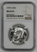 1970 D Kennedy Half Dollar 50c Ngc Ms 65 Pl Mint State Unc Proof-like 043