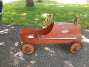 Original Garton 1950's Fire Chief G Red White Pedal Car With Bell Mark 5