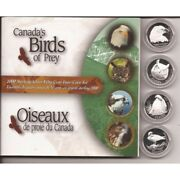 2000 Sterling Silver Fifty Cent 4-coin Set - Canadaand039s Birds Of Prey