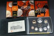 1998 Proof Double Dollar Set - Canadian 8-coin Set - Case, Box And Certificate